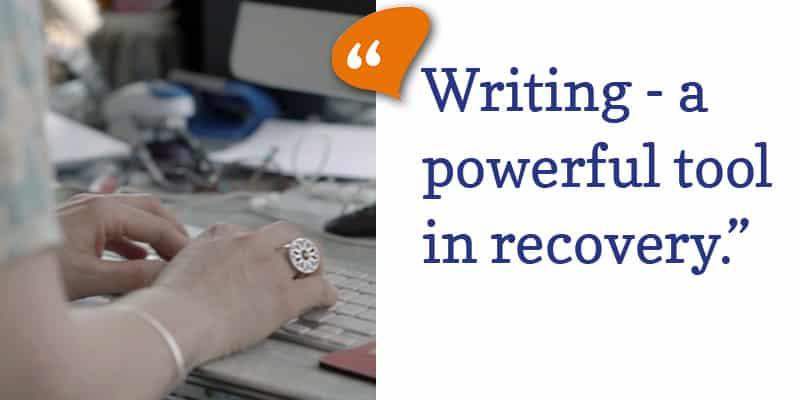 Living Sober blog image-Writing copy