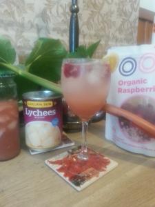 Rhubarb, Lychee & Raspberry Spritzer