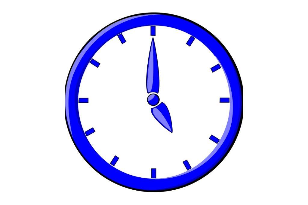 close up clock at 5 o'clock
