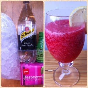 Raspberry & Lime Slushie | Living Sober