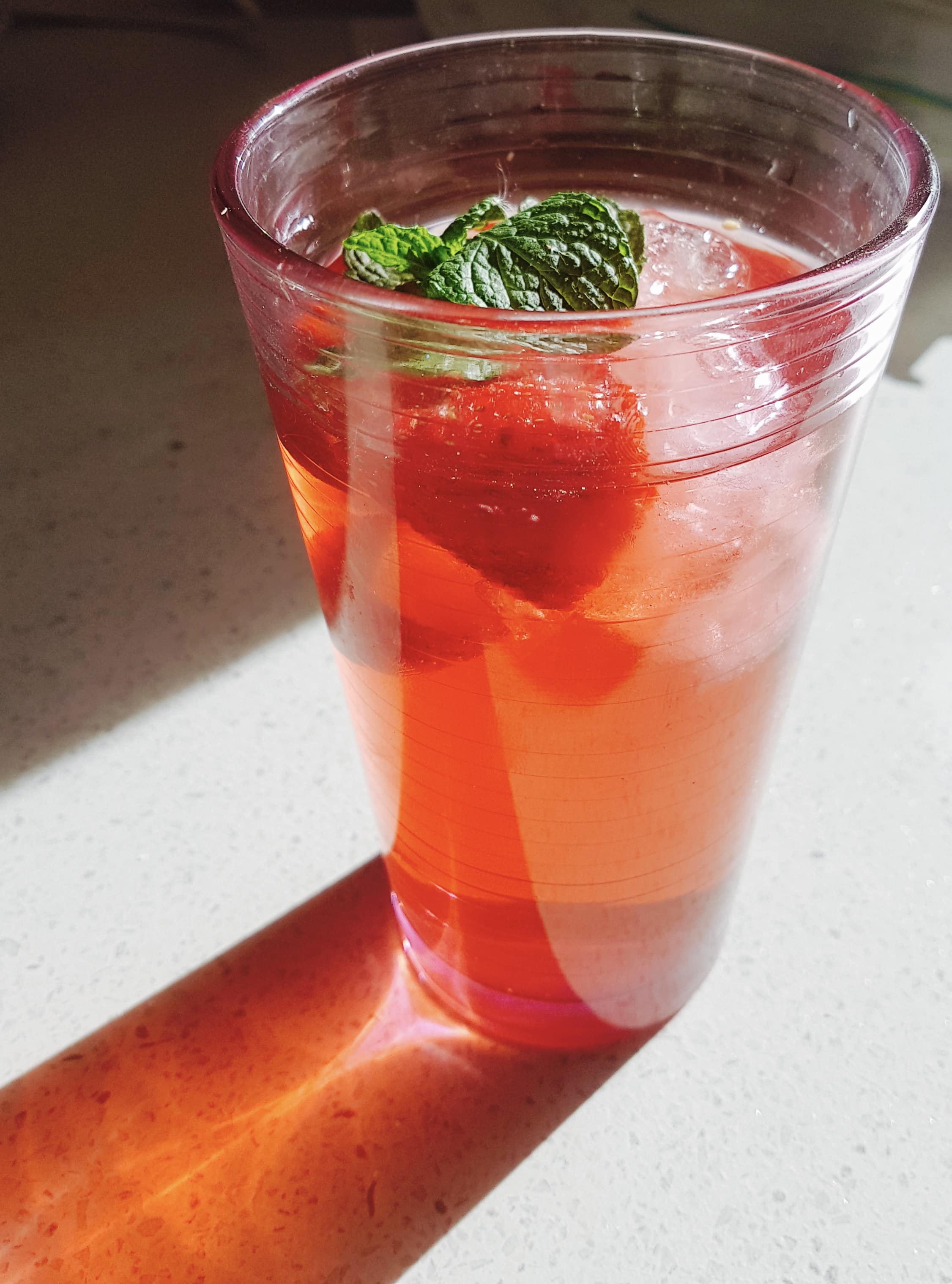 Strawberry and Lime Iced Tea
