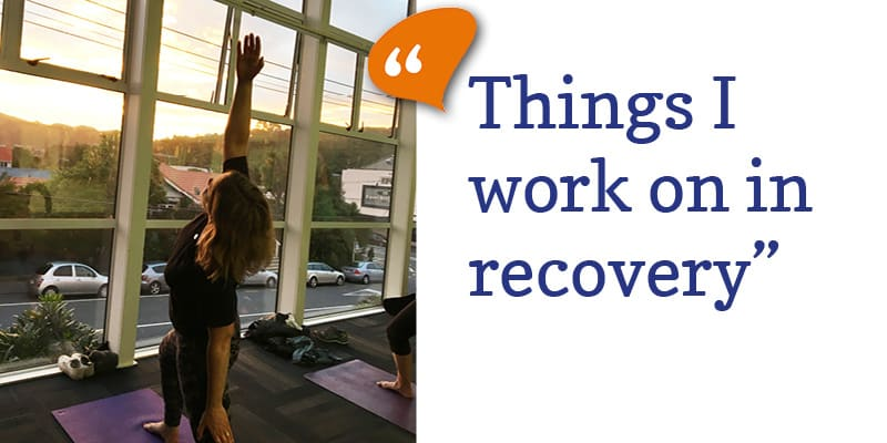Things I work on in recovery...