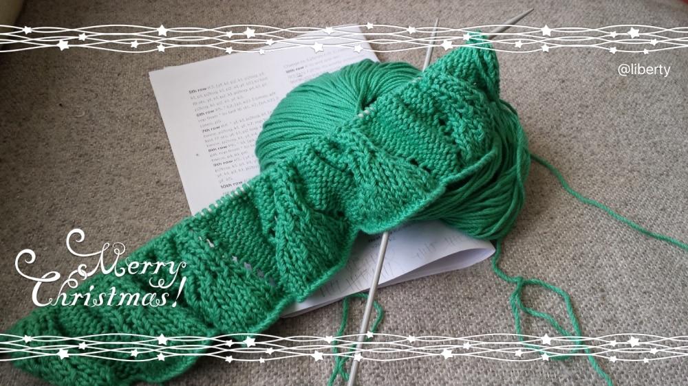 liberty knitting a scarf