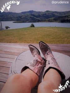 prudences shoes and the lake