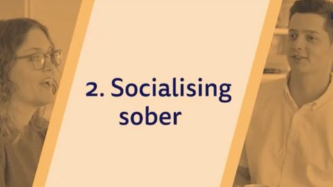 title socialising sober plus two people chatting