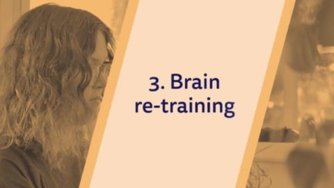 text 'Brain re-training'