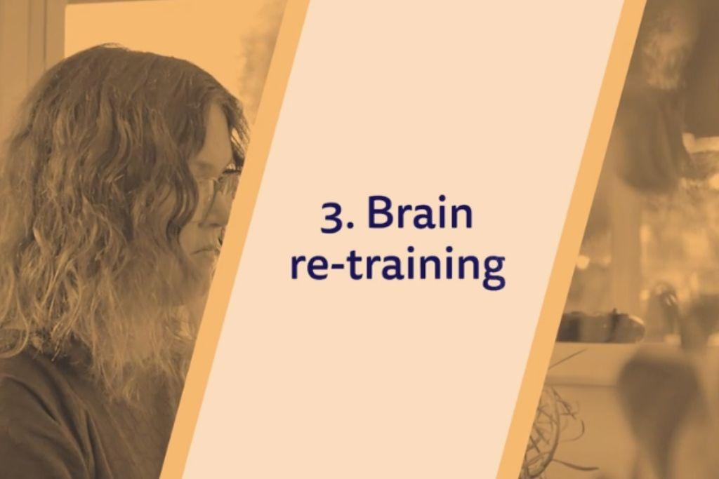 text 'Brain re-training'